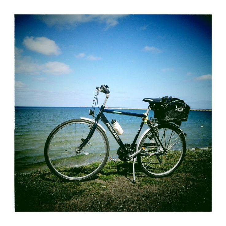Peggy during my bike trip to Hel (April 2015)