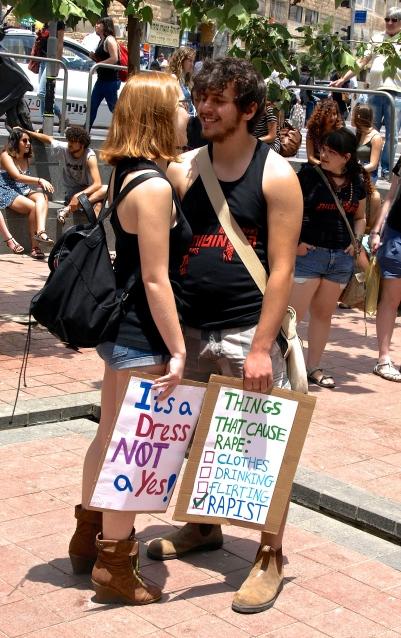 """Say No to Rape"" demonstration in Jerusalem"