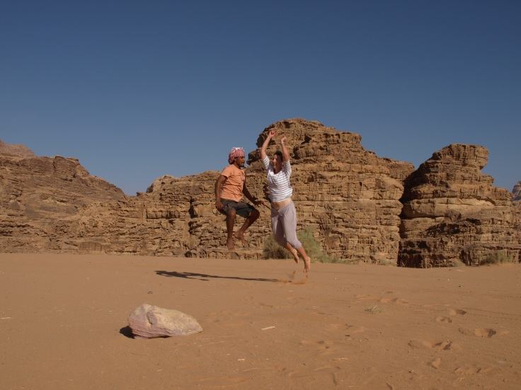 Ahmad and me in Wadi Rum, Jordan
