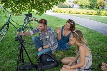 making of the video for Polak Potrafi - the crowdfunding platform
