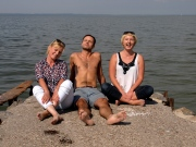 Younger generation of the trip - Ania, Bogdan and me :)