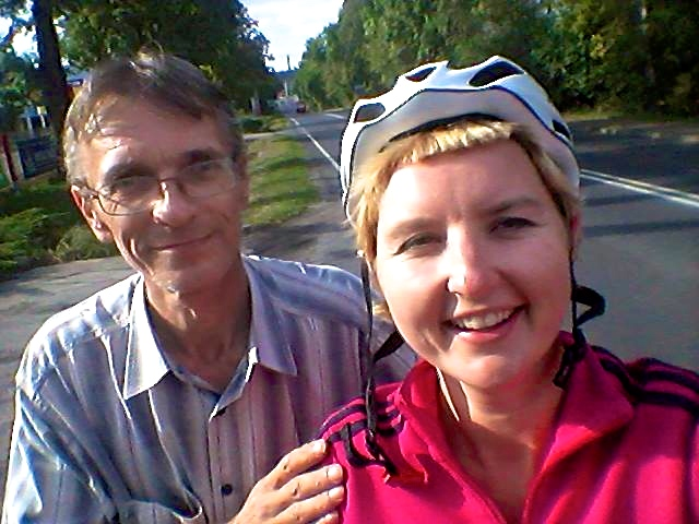 With Slawek who cycled with me around Zawiercie