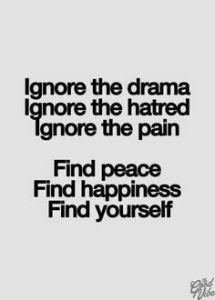 ignore the drama