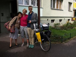 With Yaelle & Stas who hosted me for the last week at their place