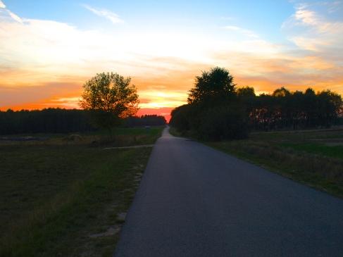 Sunset on my way