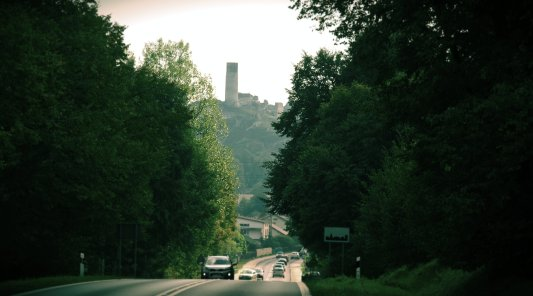 A castle in Olsztyn - on the way from Czestochowa to Olkusz