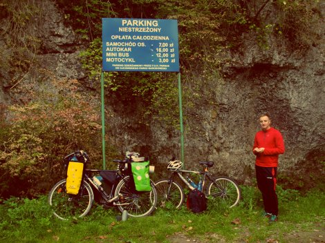 First break - luckily we didn't have to pay for bicycles!