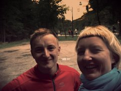 Selfie with the castle in Pieskowa Skala in the background