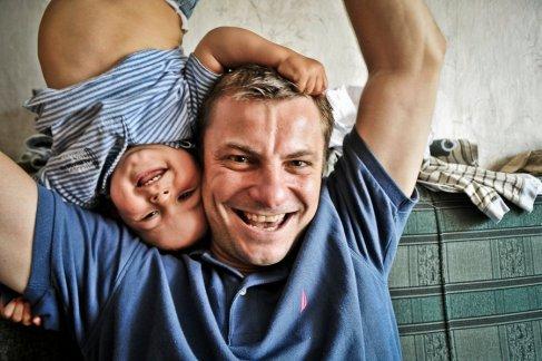 Rafal with his son Antek (photo by Anna Lewanska)