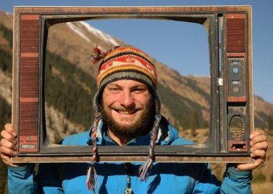 Rafal in Kyrgystan in 2007 (photo from Rafal's FB)