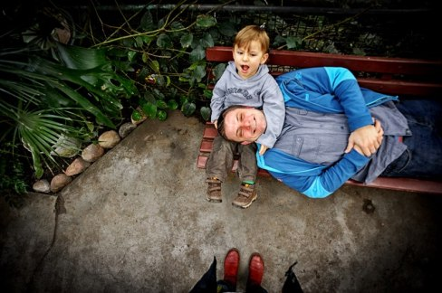 Rafal with his son Antek (photo by Anna Lewanska)