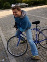 Bike ride in the Silesian Park with Rafal (one of two pictures I managed to take..)