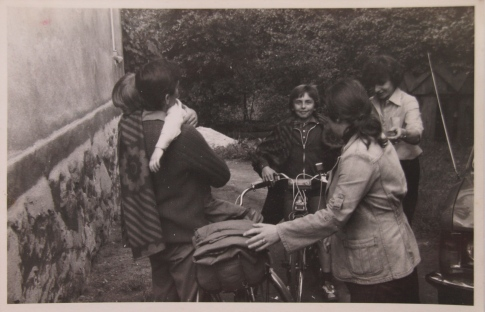 Rafal's dad and brother back from Rome to Zywiec (around 1980)