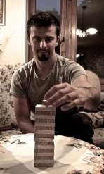 Playing jenga - Marek