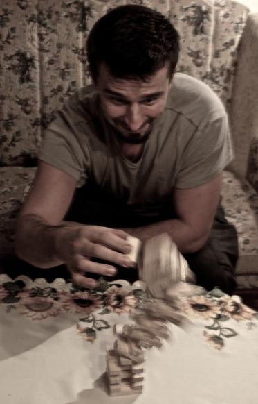 Playing jenga - Marek