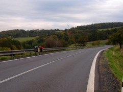 Moravia: On the way from Ostrava to Olomouc - doesn't look that steep right?