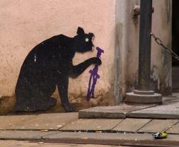 Street Art in Olomouc (the bird killer)