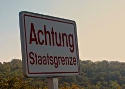 The Czech Austrian border - from the Austrian side
