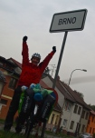 Reaching Brno (still in the daylight!)