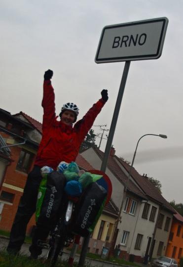 Reaching Brno (still in the daylight!)