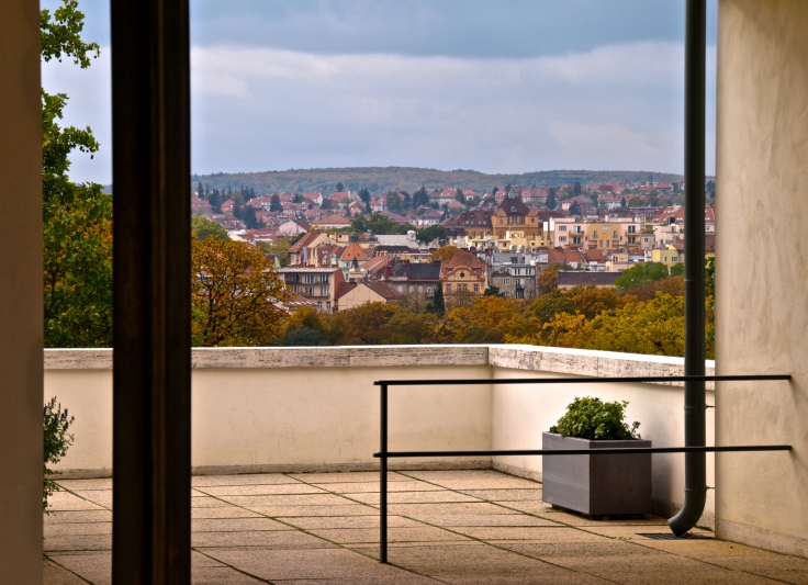 The view from Villa Tugendhat's terrace