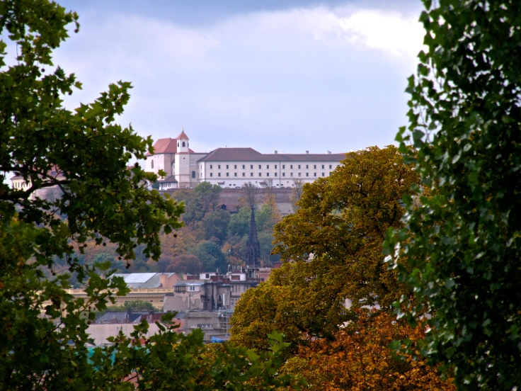 Špilberk Castle in Brno from far far away