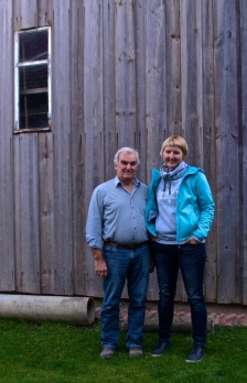With Sandra's dad who hosted me in his house over the weekend