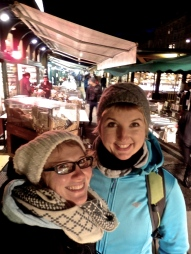 Visiting Naschmarkt by night with Agata