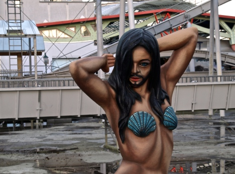 Conchita Wurst's statue in Prater