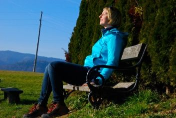 Resting at the peak!