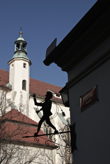 Postal Street with a Postman in Maribor